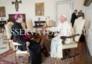 The Pope receives the Apostolic Nuncio in a private audience.